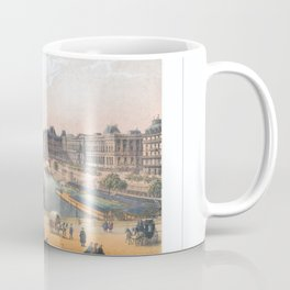 Paris art print Paris Decor office decoration vintage decor LE LOUVRE of Paris Coffee Mug