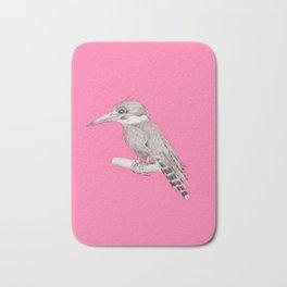 pink kingfisher bird Bath Mat
