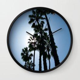 Blue Palm Wall Clock