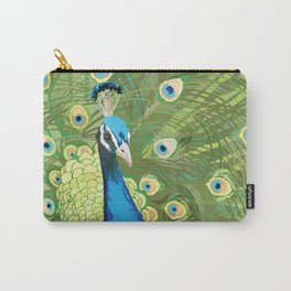 The Majestic Peacock Carry-All Pouch