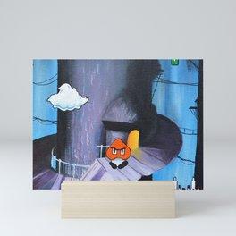 "'Sertraline' 12"" x 12"" Acrylic and Marker on Canvas 2013 Dan Gribben Mini Art Print"