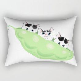 3 Little Kittens Hidding in beautiful pea green boat Rectangular Pillow