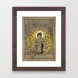 The Raven. 1884 edition cover Framed Art Print