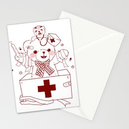 The Adventures of Bear and Baby Bear-Who's hurt? Stationery Cards