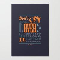dr seuss Canvas Prints featuring Dr. Seuss Quote  by Robert Woods