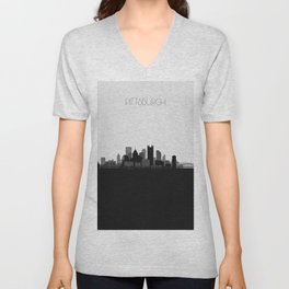 City Skylines: Pittsburgh Unisex V-Neck
