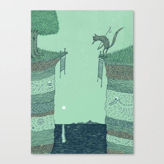 'Broken Bridge' (Colour) Canvas Print