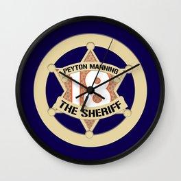 Sheriff Peyton (Blue) Wall Clock