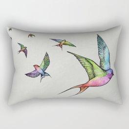 Swallows in Flight Rectangular Pillow