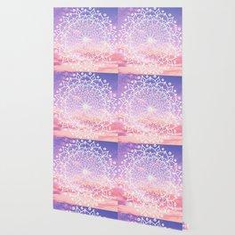 WHITE SUNSET MANDALA Wallpaper