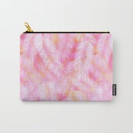 Pink Flamingo Feather Pattern Carry-All Pouch
