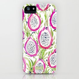 PITAYA FIYA Watercolor Dragonfruit iPhone Case
