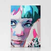 grimes Stationery Cards featuring Grimes by Tiffany Baxter