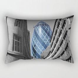 Blue Tower Rectangular Pillow