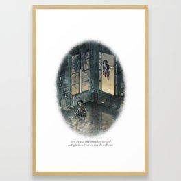 Behind You 20 Framed Art Print