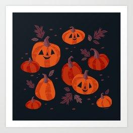 Pumpkin Patch Art Print