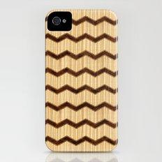 Wooden Chevron Slim Case iPhone (4, 4s)