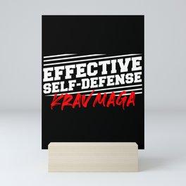 Krav Maga defense fighter martial art Mini Art Print