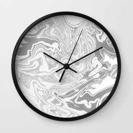 Gray Marble paper Wall Clock