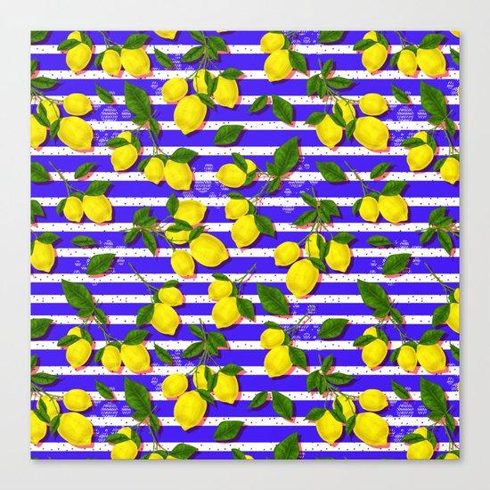 Pattern of lemons II Canvas Print