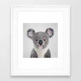 Baby Koala - Colorful Framed Art Print