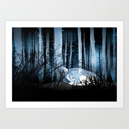 soft sleep Art Print