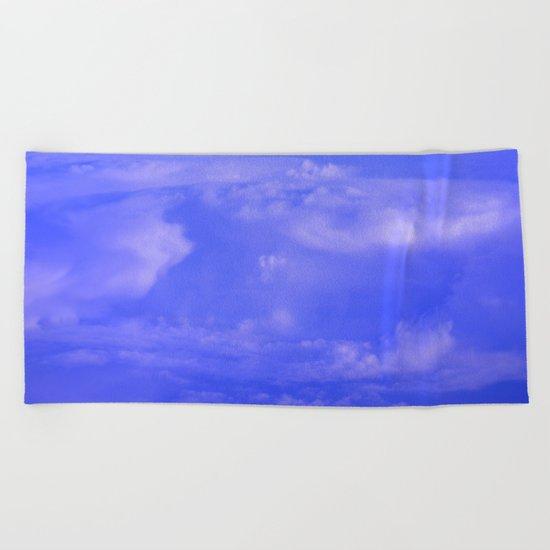 Aerial Blue Hues IV Beach Towel