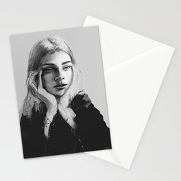 Portrait of a woman No.2 Stationery Cards