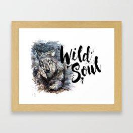 Wolf Wild Soul Framed Art Print