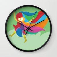 musa Wall Clocks featuring Musa by Juliana Rojas | Puchu
