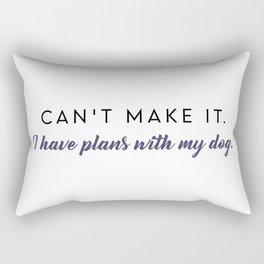 Plans with my Dog Rectangular Pillow