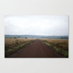 Lonely African Road Canvas Print