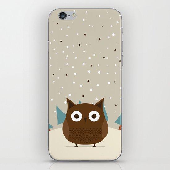 Cute owl iPhone & iPod Skin