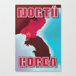 North Korea Soviet poster. Canvas Print