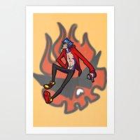 gurren lagann Art Prints featuring gurren lagann - kamina by gutter