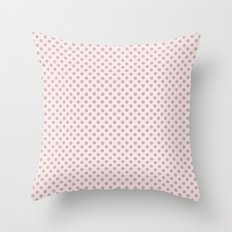 Taupe Polka Dots on Pink Throw Pillow
