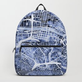 Glasgow Scotland Street Map Backpack