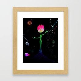 Lotus Figure Framed Art Print