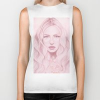 water colour Biker Tanks featuring Water Colour Girl by DeeDee Design