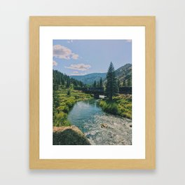Farad Bridge Framed Art Print