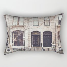 Chicago Snow Day in Neutrals Rectangular Pillow
