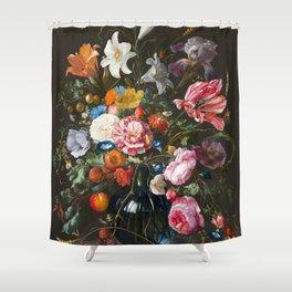 Vase with flowers - Jan Davidsz. de Heem (1670) Shower Curtain