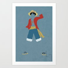 Monkey D Luffy Art Print