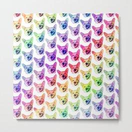 Rainbow Corgis Metal Print