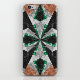 Marble Geometric Background G439 iPhone Skin
