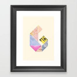 Collaged Tangram Alphabet - G Framed Art Print