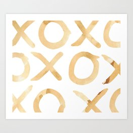XOXO in Coffee Art Print
