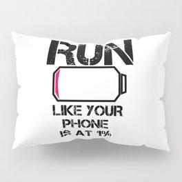Run Smartphone jogging running Marathon gift gym fitness Sports Pillow Sham