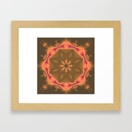 Red-Orange Mandala Framed Art Print