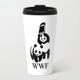 WWF parody T-Shirt Travel Mug